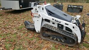2007 Bobcat Mt55 Mini Track Skid Steer With Trencher And Dirt Blade
