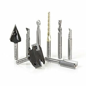 Tool Ams 131 8 pc Cnc Signmaking Starter Router Bit Collection ii 1 4 Shank