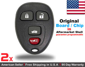2x Replacement Oem Keyless Entry Remote Control Key Fob For Chevy Buick Pontiac