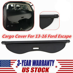 New Cargo Cover Fit For 13 16 Ford Escape Retractable Tonneau Luggage Shade Blk