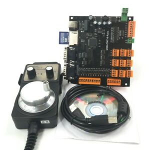 9axis Cnc Controller Kit Stepper Motor Breakout Board handwheel usb Cable cd X