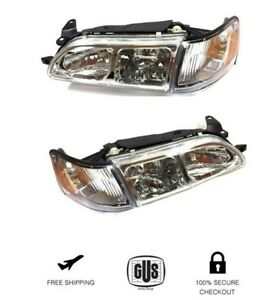 93 97 Toyota Corolla Dx Euro Style Clear Headlights Headlamps 1993 1997