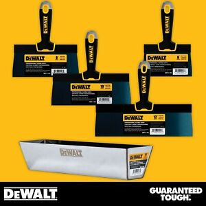 Taping Knife And Pan Set Dewalt Hand Tools Blue Steel W Soft grip Handle