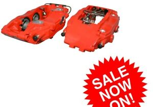 For Porsche 911 964 993 Pair Set Of Front Left Right Red Brake Calipers