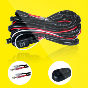 Wiring Harness For 2 Led Work Lights Led Pods On Off Rocker Switch Relay 2 Leads