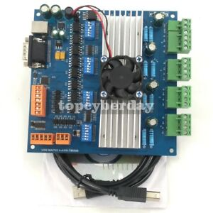 Mach3 4 Axis Tb6560 Stepper Motor Driver Board With Mpg Usb Port Usb Cable