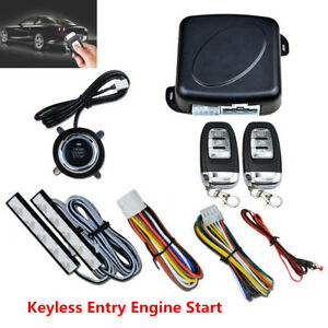 8pcs Car Keyless Entry Engine Start Push Button Remote Starter Auto Alarm System