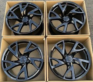 19 Nissan 370z Reys Eng Forged Rims Wheels Oem Factory Gloss Black Set Of Four