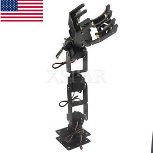 6dof Robot Mechanical Arm Hand Clamp Claw Manipulator Frame For Arduino Diy Usa