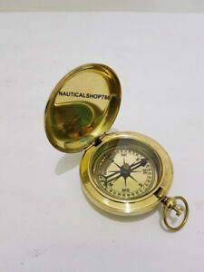 Brass Nautical Push Button Compass Marine Christmas Gifting Item