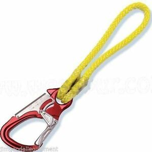 Tree Climbers Hip Prusik 12 Strand W aluminum Snap Adjust Your Flipline