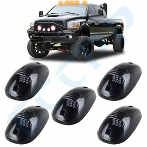 5x Cab Marker Smoke Clearance Light Amber 9 Led Assembly For 03 16 Dodge Ram