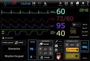 Ecg Simulator 25 Rhythms Simulate 12lead x rays pacing sync d fib nibp co2 spo2