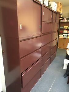 6 Drawer Lateral Metal Office Cabinets Set Of 3 local Pickup Boston Only