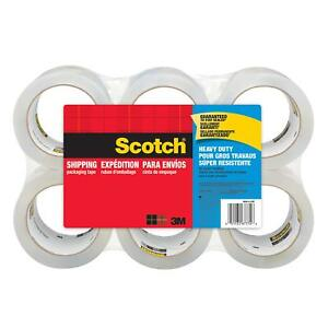 6 Scotch Rolls Heavy Duty Shipping Packing Seal Tape 40x Stronger 3m 1 88 X 54 6