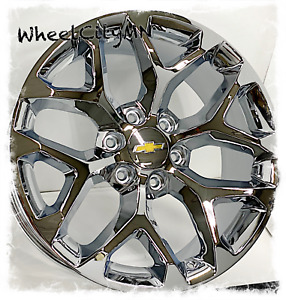 20 Inch Chrome Snowflake 2018 Chevy Silverado Tahoe Ltz Oe Replica Wheels 6x5 5