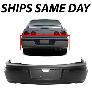 New Primered Rear Bumper Cover Replacement For 2000 2005 Chevy Impala 12335487