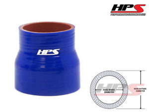 Hps 3 1 8 3 5 80mm 89mm 4 Ply Silicone Intercooler Turbo Reducer Hose Blue