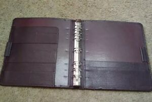 Monarch 1 25 Rings Burgundy Top grain Leather Franklin Covey Planner Binder