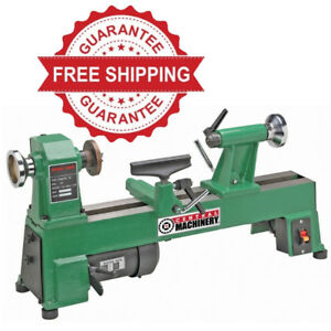 New 5 Speed Bench Top Wood Lathe 10 X 18 Heavy Duty Cast Iron Up To 3200 Rpm s