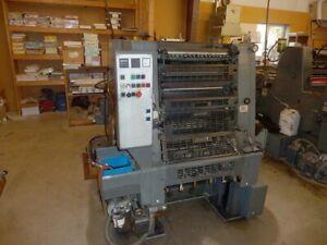 Printing Press 1991heidelberg Gto 52 2 Color