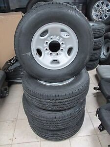 07 17 Nto 8 Lug Chevy Silverado Express Van 2500 3500 Steel Wheels Tires Caps