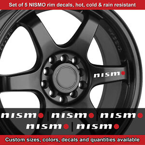 Nismo Rim Decal Sticker Adhesive All Nissans 5 Decals Wheels Handles 2 5wro Etc