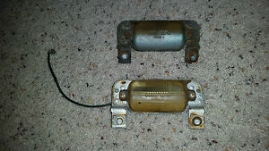 1961 1962 Cadillac Rear Bumper License Plate Lights Gm Chevy Olds Buick Pontiac