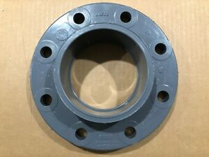 new Lasco 851 040 Fitting 4 slip Schedule 80 Pvc Solid Style Flange Usip