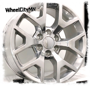 20 Inch Polished 2015 Gmc Sierra Denali Oe Factory Replica 5656 Wheels 6x5 5 27