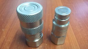 New Stucchi 3 8 npt Flat Face Lp Couplers For Hydraulic Saws Impacts Breakers