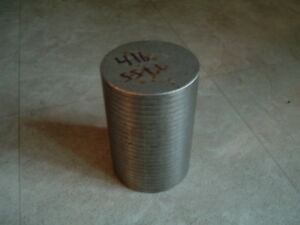 416 Magnetic Stainless Steel Round Rod 4 Inch Diameter Length 6 03 Inches Ss