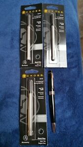 Cross Felt Tip Black Pen With 3 Refills 8444 Fine Point Lot Collection Package