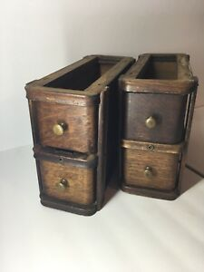 Vintage 1919 Singer Treadle Sewing Machine Cabinet Drawers W Frames