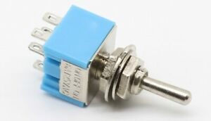 Industec Spdt Mini Toggle Switch Maintained 2 Position 3 Pin Solder 12v Guitar