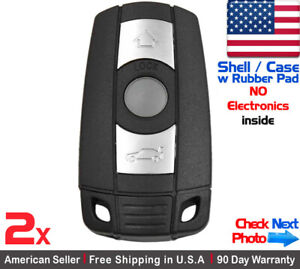 2x New Replacement Keyless Entry Remote Key Fob Case For Bmw Kr55wk49123 Shell