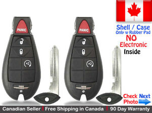 2 New Replacement Remote Key Fob For Dodge Ram Jeep Cherokee Shell Case