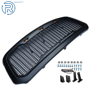 For 2013 2018 Dodge Ram 1500 Grille Abs Honeycomb Bumper Grill