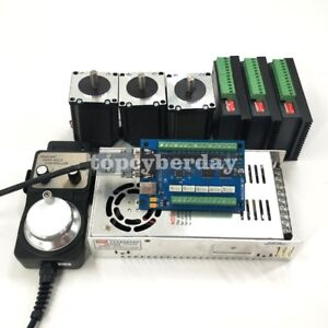 5 Axis Cnc Kit Nema 23 Stepper Motor 57 dm542 Motor Driver mach3 Control Card