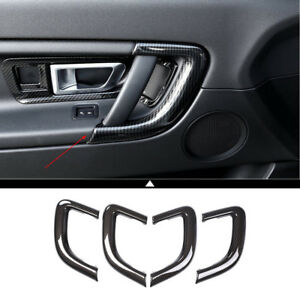 Carbon Fiber Style Car Interior Door Handle Trim For Land Rover Discovery Sport