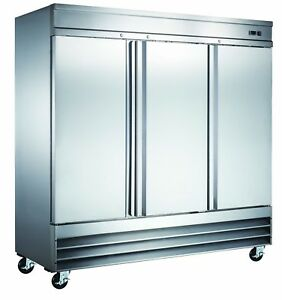 Three Door Heavy Duty Commercial Reach In Freezer Etl nsf Listed Stainless Steel