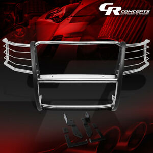 Ss Stainless Front Bumper Headlight grille Brush Guard For 11 14 Chevy Silverado