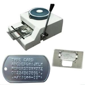52 Characters Dog Id Tag Embosser Embossing Stamping Machine Fast Shipping