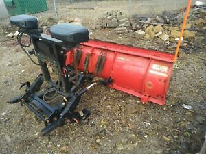 2012 Western Ultramount 8 Pro Plow Snow Plow With Controls And Brackets