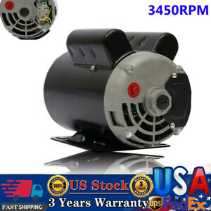 5 Hp Spl 3450 Rpm Air Compressor 60 Hz Electric Motor 208 230 Volts Century B385