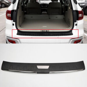 Black Outer Rear Trunk Bumper Plate Cover For Toyota Fortuner An160 2016 2018