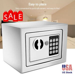 Digital Safe Box Money Cash Electronic Digital Code Lock Home Office Security Wx