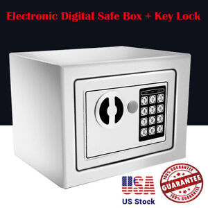 Safe Security Box Gun Money Passport Wall Cabinet Home Office Electronic Usa Wx