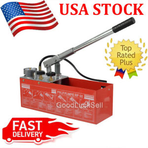 Water Pressure Manual Test Pump Hydraulic Rp50 Plumber Compatible Rothenberger