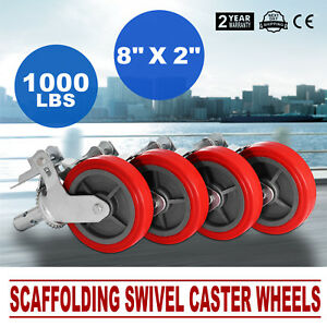 4pcs Scaffold Scaffolding Casters Wheel 8 X 2 Mechanical Double Locking Durable